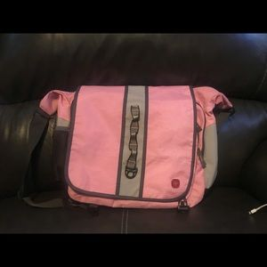 Swiss Gear Pink Laptop Messenger bag
